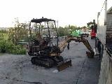 Escavatore  Pc-15 komatsu bruciato