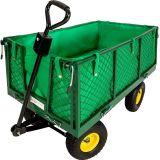 Carretto carrello  Rimorchio in ferro trasporto legna giardino carro