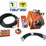 Impianto ausiliario idraulico  per trattori cingolati taurasi