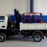 Macchine operatrice  4x4 con gru e cesta biposto