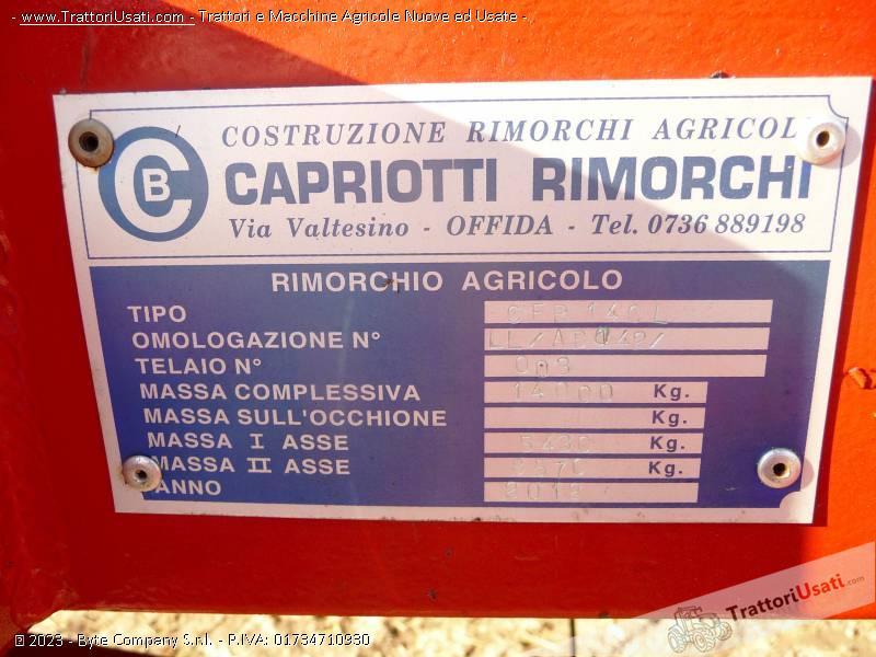 Foto 3 rimorchio agricolo capriotti for Capriotti rimorchi agricoli