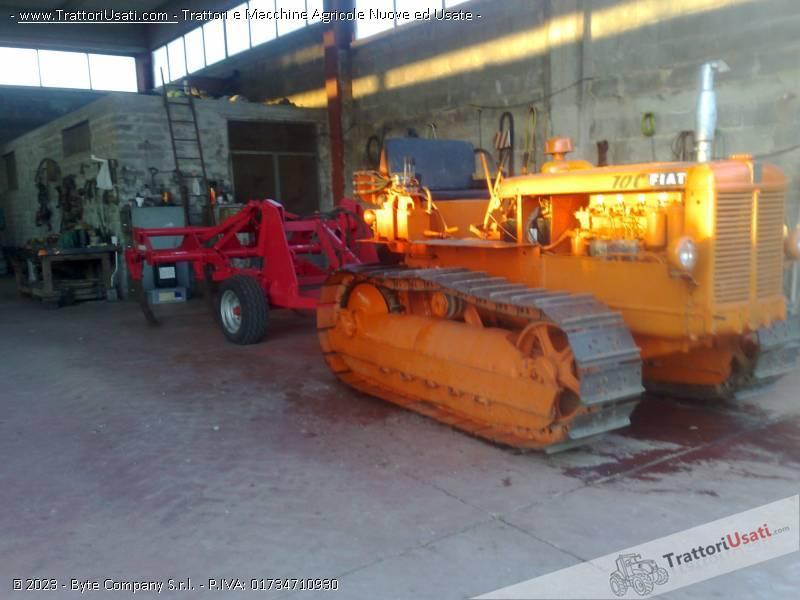 Foto trattore cingolato fiat 70 c for Vendita trattori usati lazio