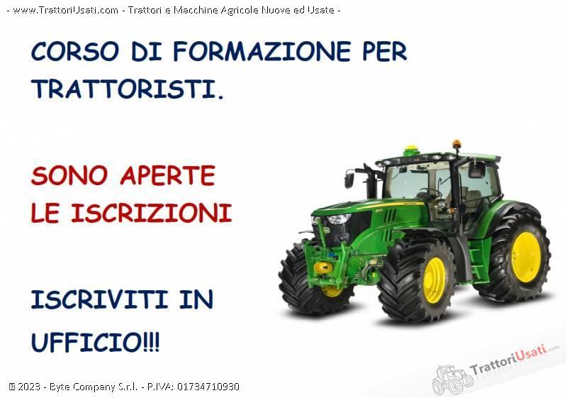 Foto Annuncio Corso abilitazione  - conduzione di trattori agricoli e forestali su ruote e cingoli